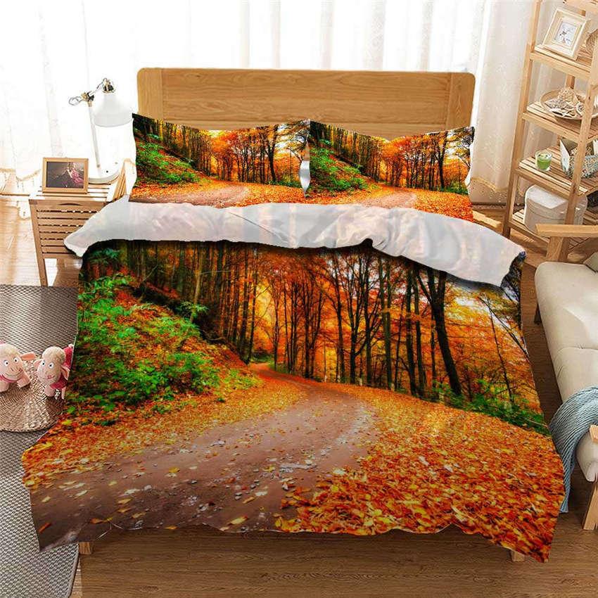 Hill Soil Plant 3D Printing Duvet Quilt Doona Covers Pillow Case Bedding Sets