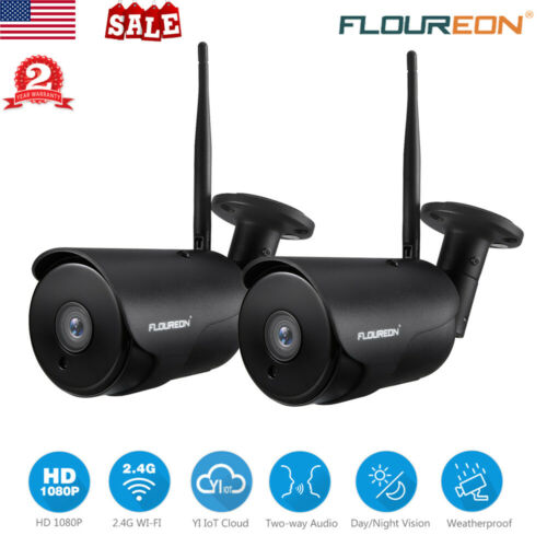 2X YI IOT HD 1080P WIFI IP Security Camera Night Vision Motion Detect Waterproof