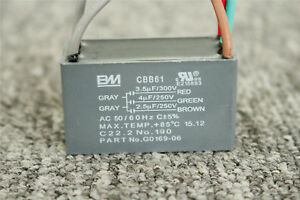 Details about MOTOR START CAPACITORS CBB61 SH 3.5UF+4UF+2.5UF 250VAC on