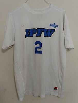 Nike Dri Fit Mens Gray Official IPFW Mastodons Fort Wayne Soccer Jersey T-Shirt
