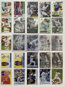 2016-2020 Los Angeles Dodgers 25-card Team Lot (Bowman/Topps, no duplicates)