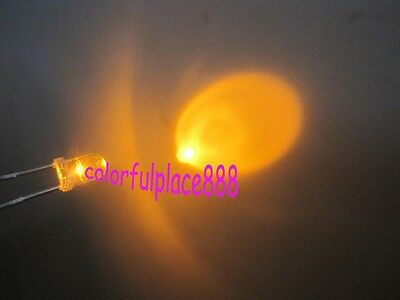 50pcs, 3mm Yellow Flash Flashing Blink Water Clear Bright LED Leds Light New