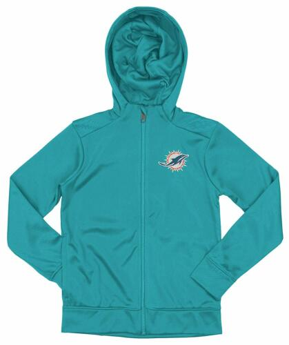Outerstuff NFL Youth//Kids Miami Dolphins Performance Full Zip Hoodie