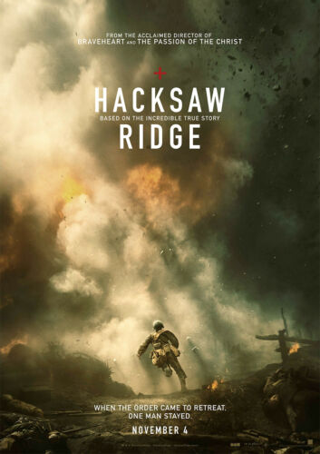 Hacksaw Ridge Poster Movie 2017 Andrew Garfield New FREE P+P CHOOSE YOUR SIZE