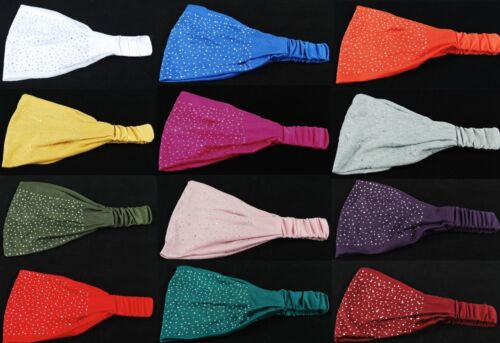Strass NEU Moderne Haarband Kopftuch Bandana Stirnband stylisch100/% Baumwolle m