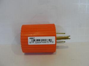 Cooper Wiring 6867 Orange 15 Amp 125 Volt Orange 3-Wire Plug