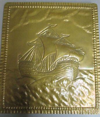 Begeistert Kupfer Bild Kogge Segelschiff Rarität Schifffahrt Moderater Preis