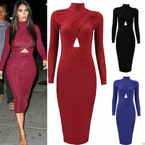 Elegant New Style 2016 Fashion Women Dress Hollow Out Long Sleeve Plus Size