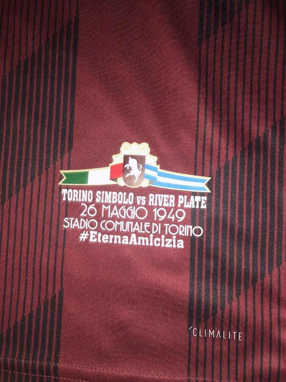 PINOLA 22 RIVER PLATE Tribute TORINO FC  players issue just 1 match.nuovo Diuominiione  M