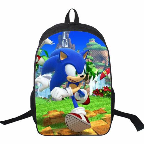Sonic the Hedgehog 16/'/' Shoulder Backpack Travel Laptop Bag Boys School Bag Gift