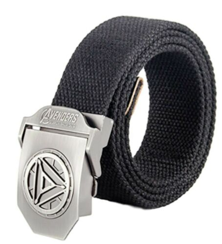 Iron Man Arc Reactor Buckle With Belt Knit Canvas