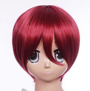 w-463-Vocaloid-Meiko-Gaara-Naruto-ROJO-RED-30cm-Cosplay-Peluca-Corto-Pelo