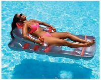Swimline 66 In Inflatable Deluxe Lounge Chair Float Swimming Pool Lake Pond 9041 on sale