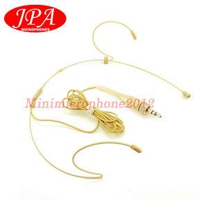 Beige Dual Headset Mic JPA Headworn Mic FOR NADY Wireless Mic System