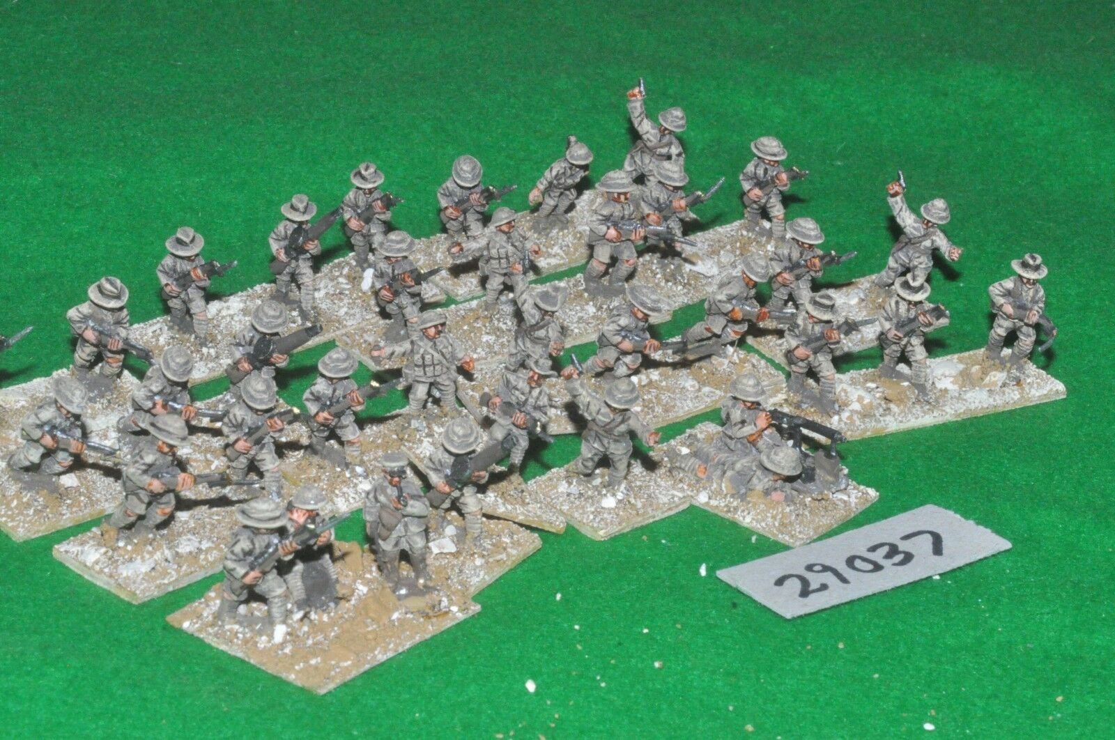 20mm WW1   australian - middle east 36 figures - inf (29037)