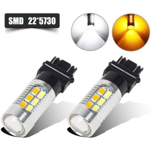 2Pcs High Power 3157 White LED Amber White 157 3357 3457 Front Turn Signal Light
