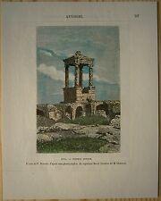 1884 Reclus print  ANCIENT TOMB, TYANA (DANA), CAPPADOCIA, ASIA MINOR (#70)