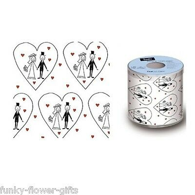 Wedding Engagement Anniversary Novelty Gift Toilet Roll Loo Paper 3 Designs