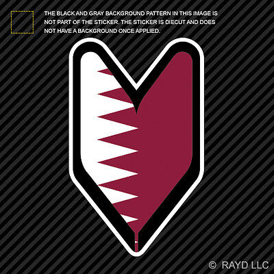 Qatari Driver Badge Sticker Decal Vinyl wakaba leaf soshinoya Qatar QAT QA