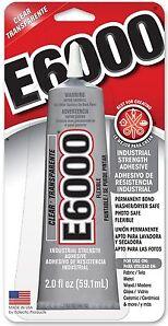 E-6000 Industrial Strenght Glue Adhesive 2.0 Oz. Permanent Bond Multi Purpose