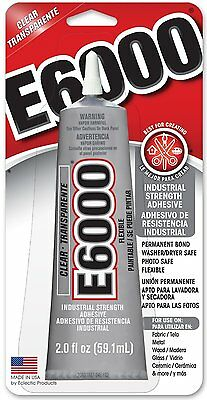 E-6000 Industrial Strenght Glue Adhesive 2.0 Oz. Permanent Bond Multi Purpose