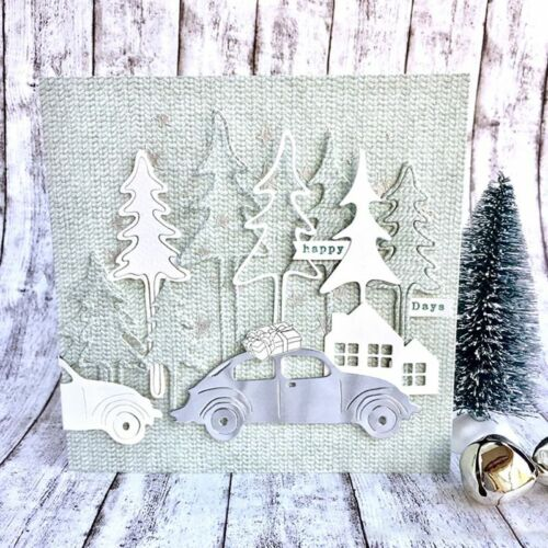 DIY Christmas Tree Metal Cutting Dies Stencil Scrapbooking Paper Card Embossing