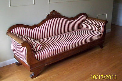 1800s American Empire Settee Sofa Couch