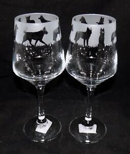 New-Etched-034-SIBERIAN-HUSKY-034-Wine-Glass-es-Free-Gift-Box-Large-390mls-Glass