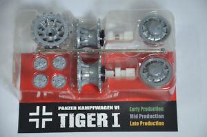 1-24-RC-Tank-TIGER-I-1-Metal-Wheel-Set-2-Sides-Tread-Track-Sprocket-VSTANK-PRO