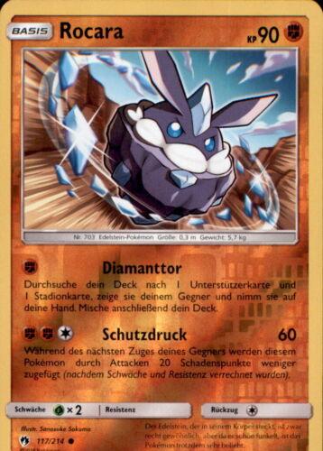 Pokemon 117//214 rocara-Reverse Holo-Allemand