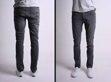W28 L32 28/32  NUDIE jeans THIN FINN POOR BLACK -NEW slim skinny fit