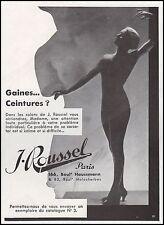 Publicité ROUSSEL gaine corset lingerie femme vintage ad 1933 -4I