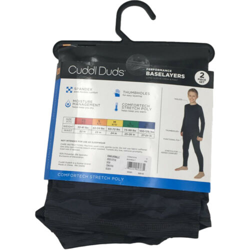New Cuddl Duds Boys 2 Piece Performance Baselayer Top and Pants Set Choose Size