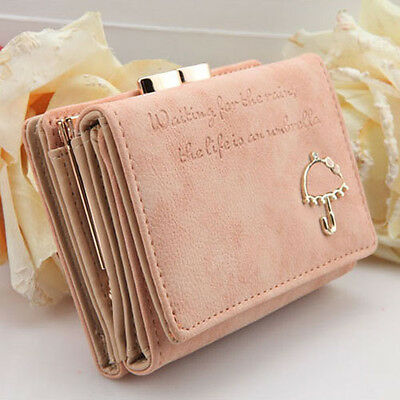 Selling Women Fashion Leather Wallet Button Clutch Purse Lady Short Handbag Bag