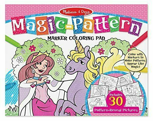 Melissa /& Doug Dinosaur Magic Velvet Colouring Pictures 6 Markers Activity Book