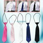 5 Colors Child Kids School Boy Elastic Necktie Wedding Tie