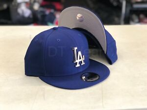 New Era Los Angeles Dodgers Royal Silver METAL BADGE 9FIFTY Snapback ... 2b779e045305