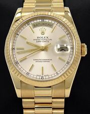Rolex President Day-Date 118238 18K Yellow Gold Stick Dial *Mint Condition*