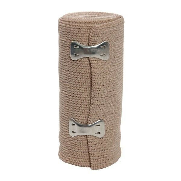 """2 PACK ACE STYLE ELASTIC BANDAGE 4"""" X 5 YARDS WITH CLIPS STK228-10612"""