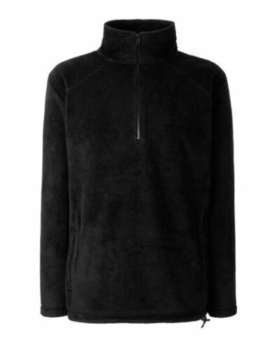 FRUIT of The Loom Half Zip Uomo Giacca in pile di transizione giacca Giacca Autunno