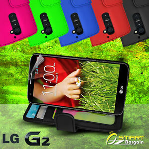 Photo-ID-Wallet-Flip-Leather-Case-Cover-for-LG-G2-D802-Screen-Guard-Card-slot