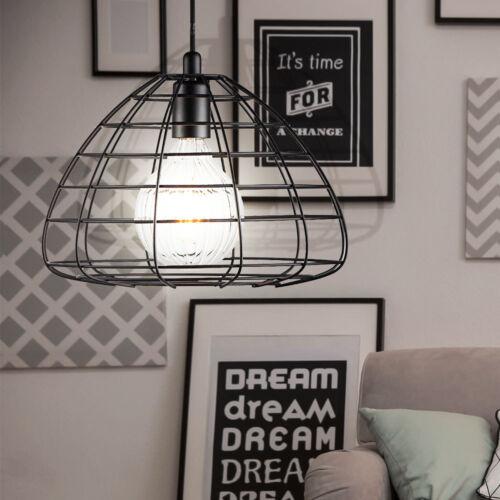 VINTAGE Pendel Hänge Lampe Schlaf Gäste Zimmer Decken Käfig Leuchte schwarz