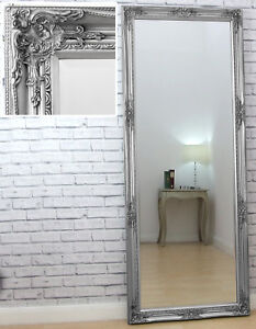 Brilliant Details About Verona Full Length Silver Shabby Chic Leaner Wall Mirror 183Cm X 74Cm 6Ft Tall Download Free Architecture Designs Scobabritishbridgeorg