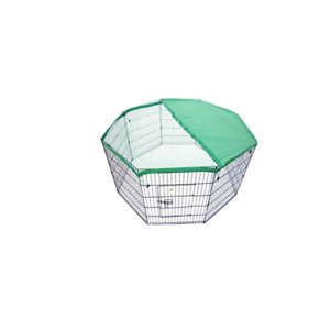 8-Panel-Foldable-Pet-Playpen-24-Inch-With-Cover-Green