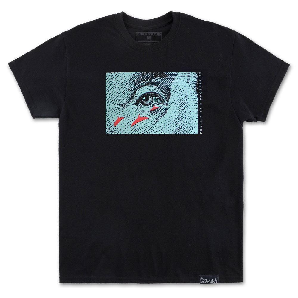 rosa Dolphin Franklin T-shirt nera