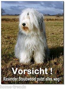 Möbel & Wohnen Bobtail-hund-aluminium-schild-0,5-3 Mm Dick-türschild-warnschild-hundeschild SchöN In Farbe