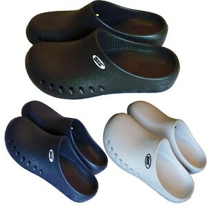 Medical-Nursing-Nurse-Mens-Comfortable-Rubber-Slip-Resistant-Clogs-Shoes