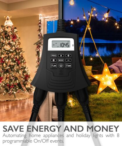 Heavy Duty Digital Waterproof Halloween Christmas Inflatable Timer 3 OUTLET