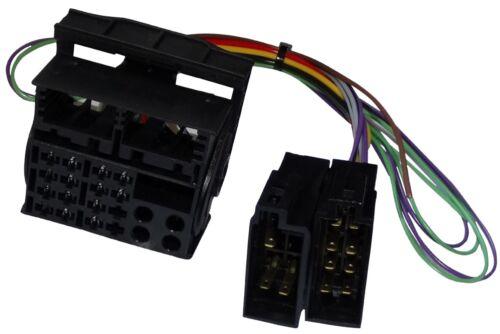 Adaptador cable enchufe ISO para autoradio de VW RS200 RCD100 RCD200 RCD300