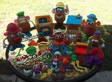 Mr Potato Head Lot Of 110 Piece Accessories Playskool Hasbro Vintage 1980s
